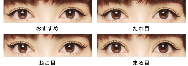 選べる「目の形」画像